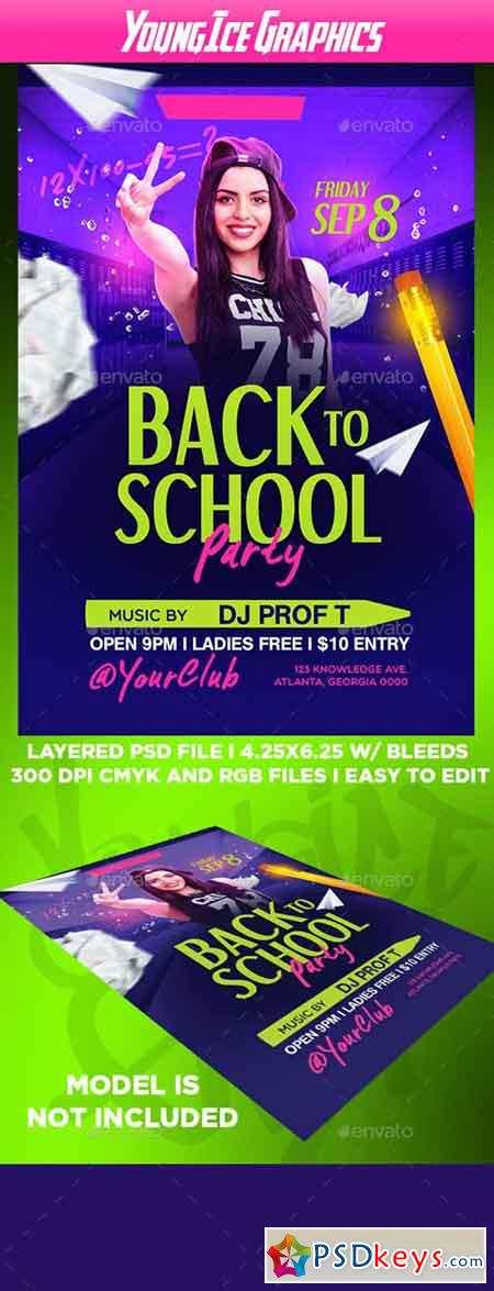 Back To School Party Flyer Template 20523380