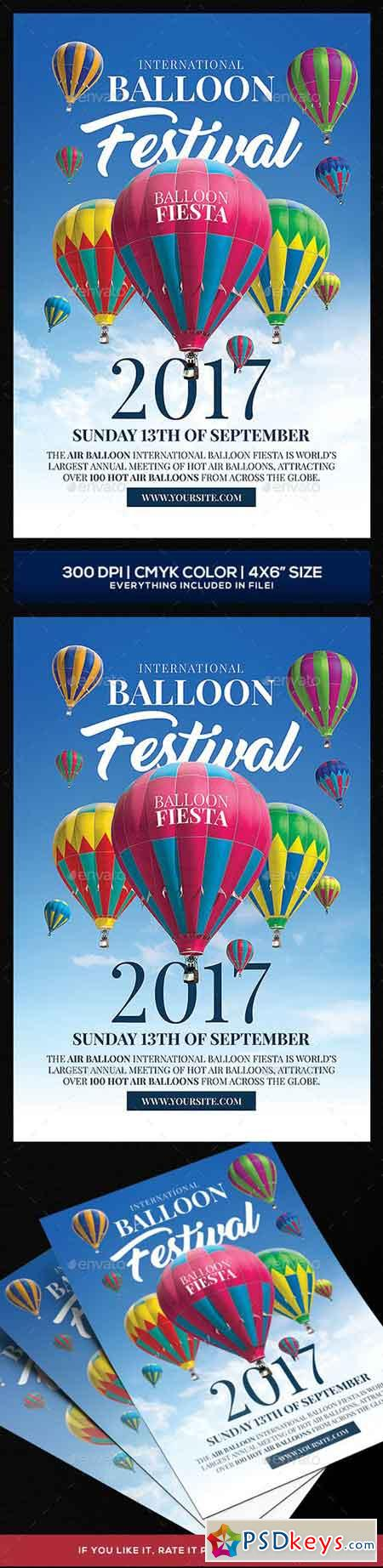 Hot Air Baloon Festival Flyer template 20525270