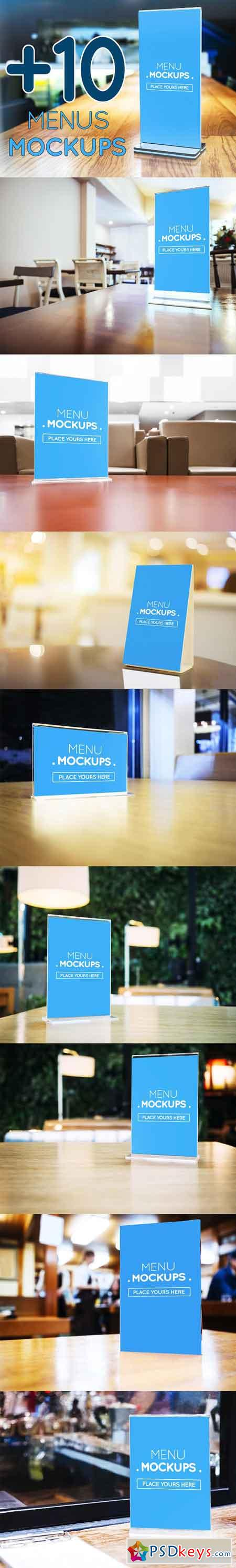 +10 Table Tent, Menu Mockups vol 1 1755836