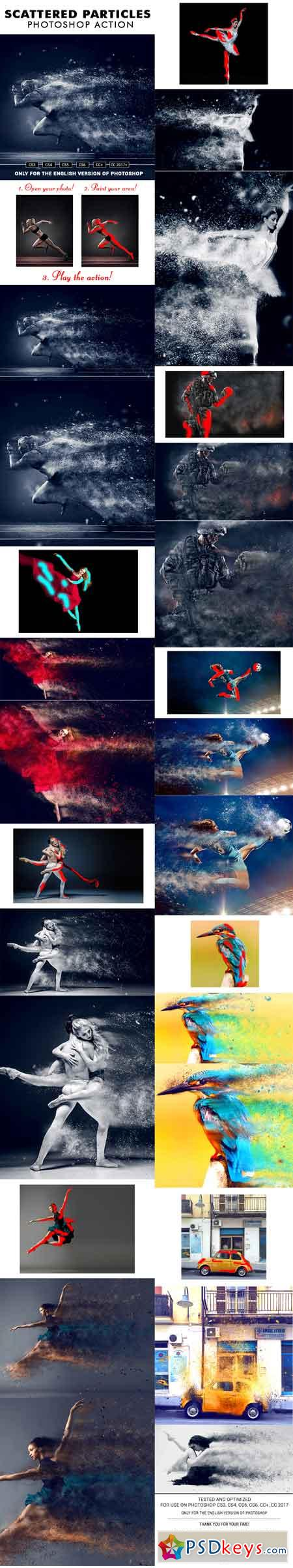 Scattered Particles Photoshop Action 20505451