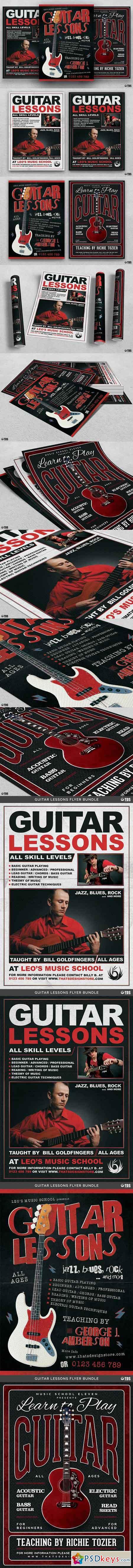 Guitar Lessons Flyer Bundle 1827298