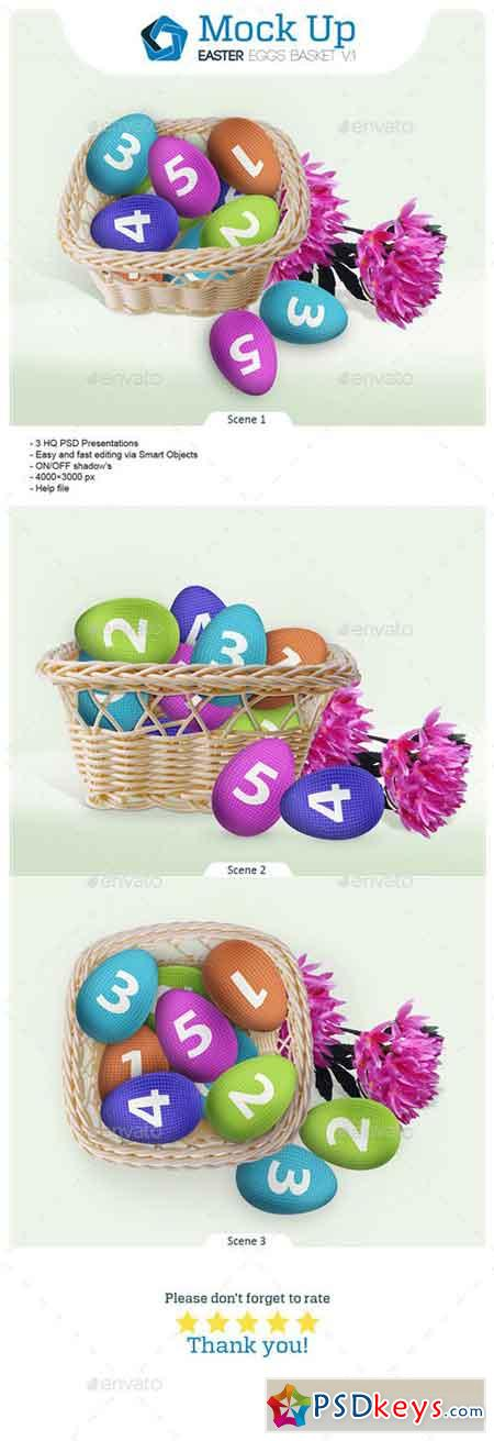 Easter Eggs Basket V.1 10624064