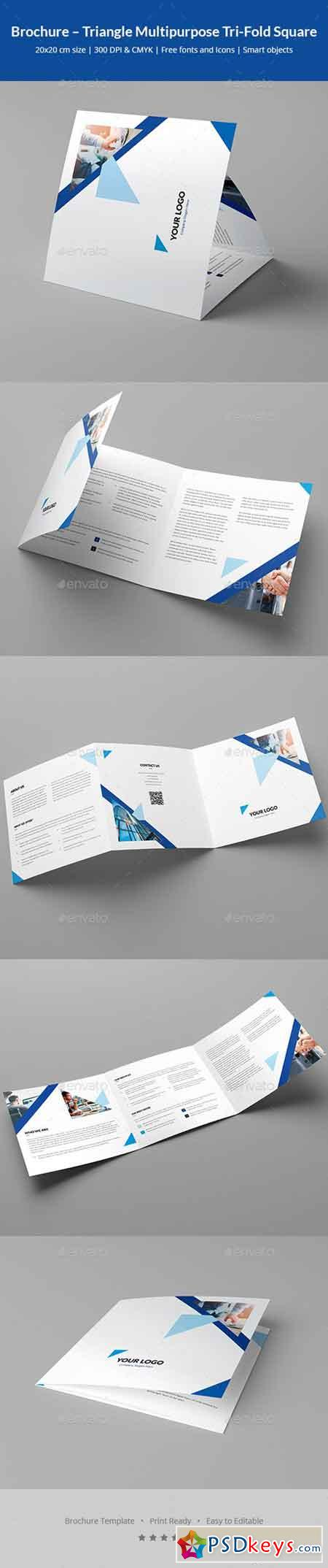 Brochure – Triangle Multipurpose Tri-Fold Square 20594108