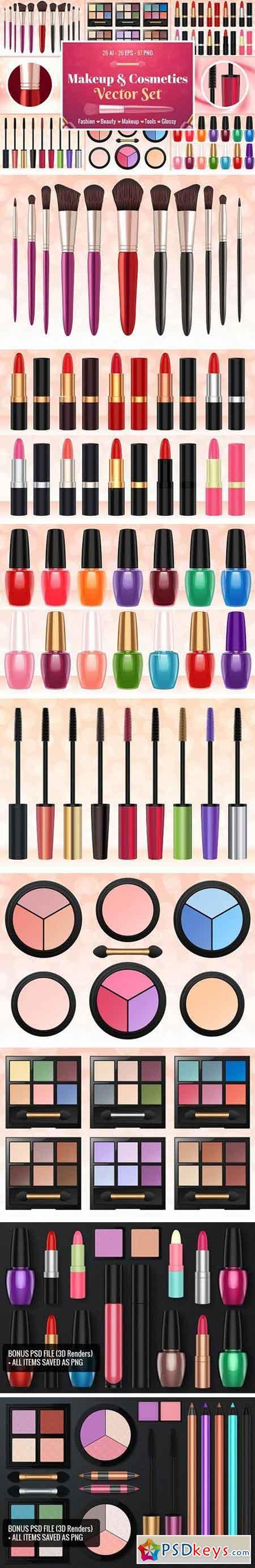 Makeup & Cosmetics Vector Set 1783247