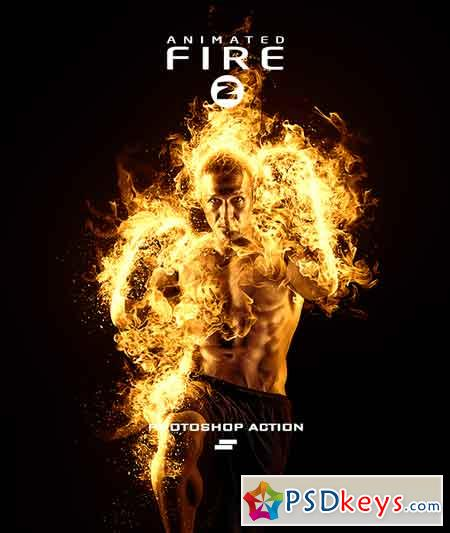 Gif Animated Fire 2 Photoshop Action 20541793