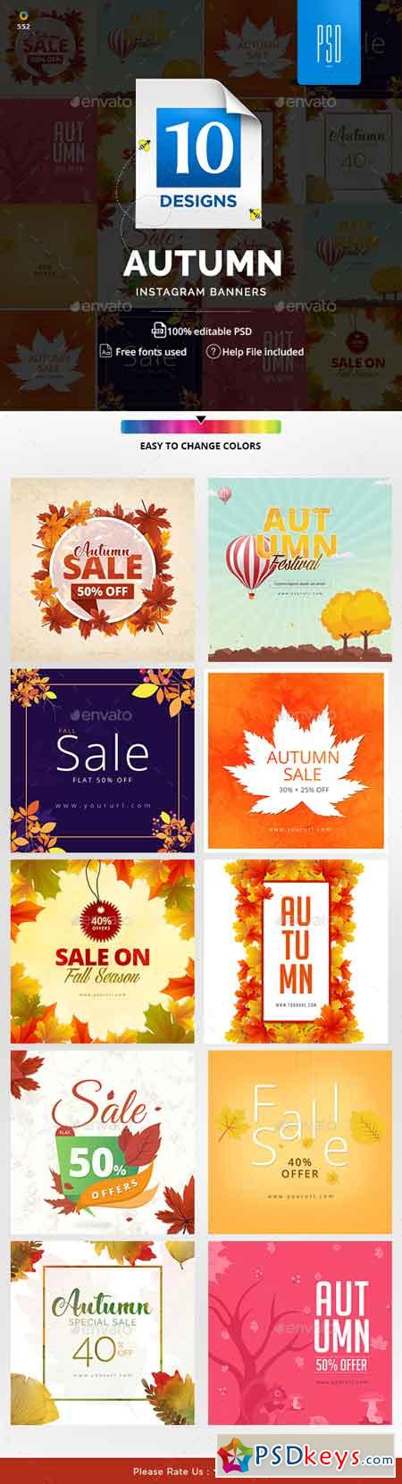 Autumn Sale Instagram Templates 20593121