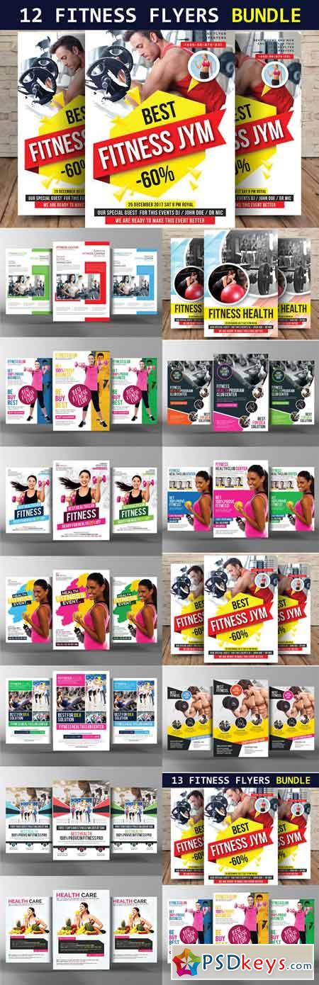 12 Fitness Flyers Bundle 1827407