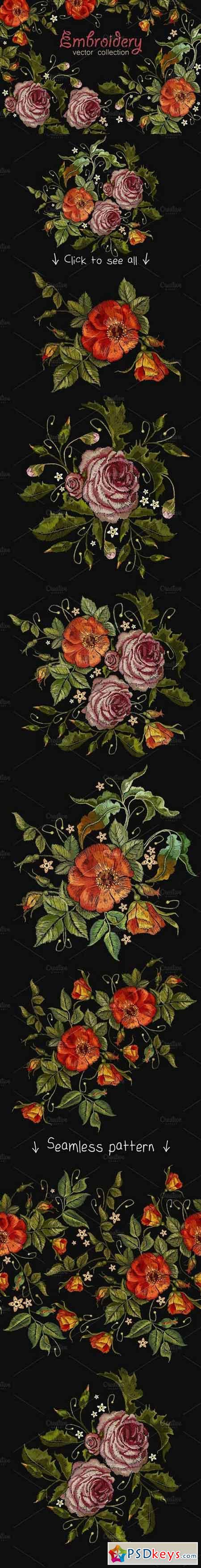 Roses embroidery 1645706
