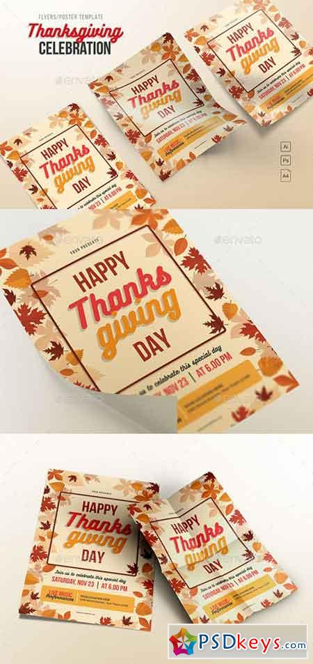 Happy Thanksgiving Day Flyers 20624615