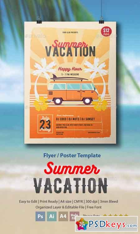 Summer Vacation Flyer Poster 16616018
