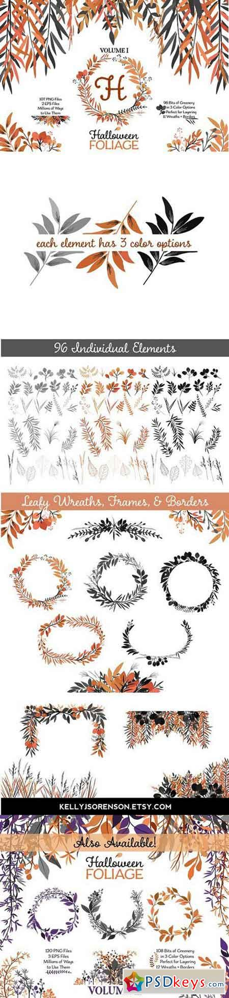Halloween Leaves and Wreaths 1756509