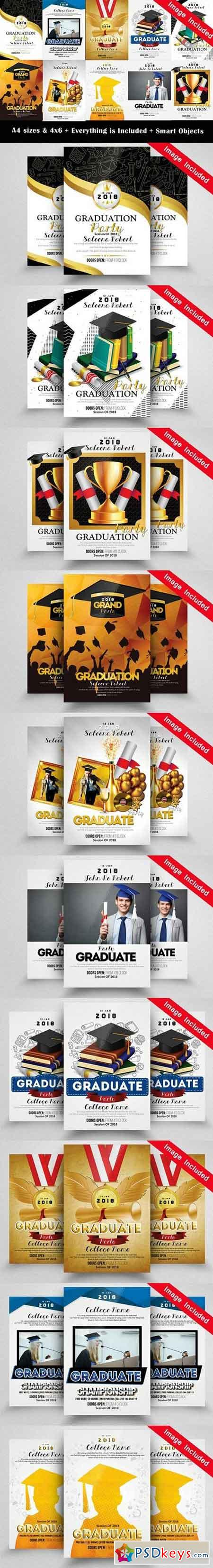 10 Graduate Flyer Bundle Vol.01 1744494