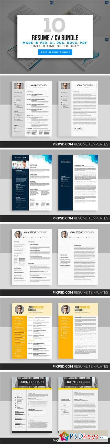 Executive Resume Service Pdf Cv  Free Download Photoshop Vector Stock Image Via Torrent  Key Skills For Resume Excel with Customer Service Cashier Resume Pdf  Resume Cv Bundle  Free Resume Builder And Print Excel