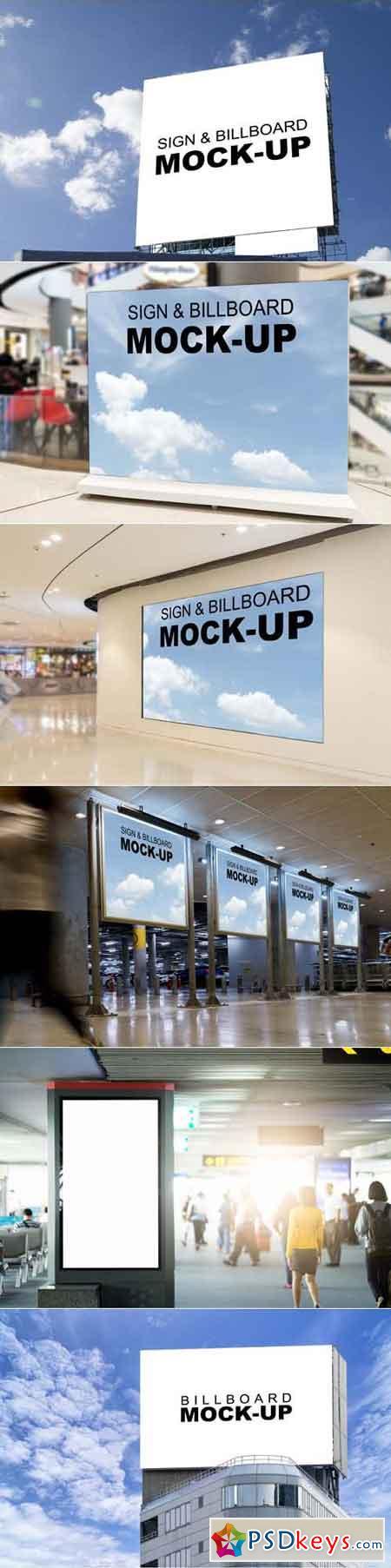 Mock Up Blank billboards vol.3