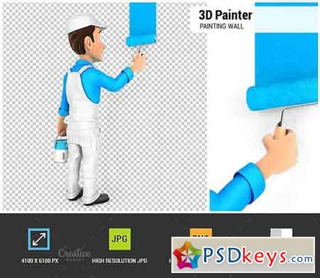 3D Painter Painting Wall 1848169