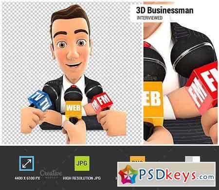 3D Businessman Being Interviewed 1848166