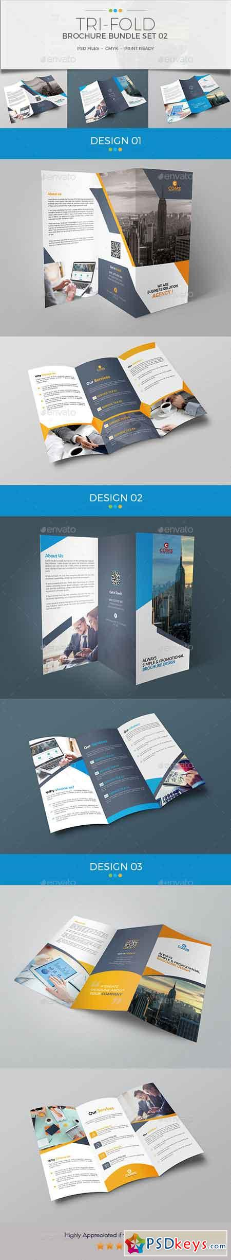 Trifold Brochure Bundle Set 02 20619984