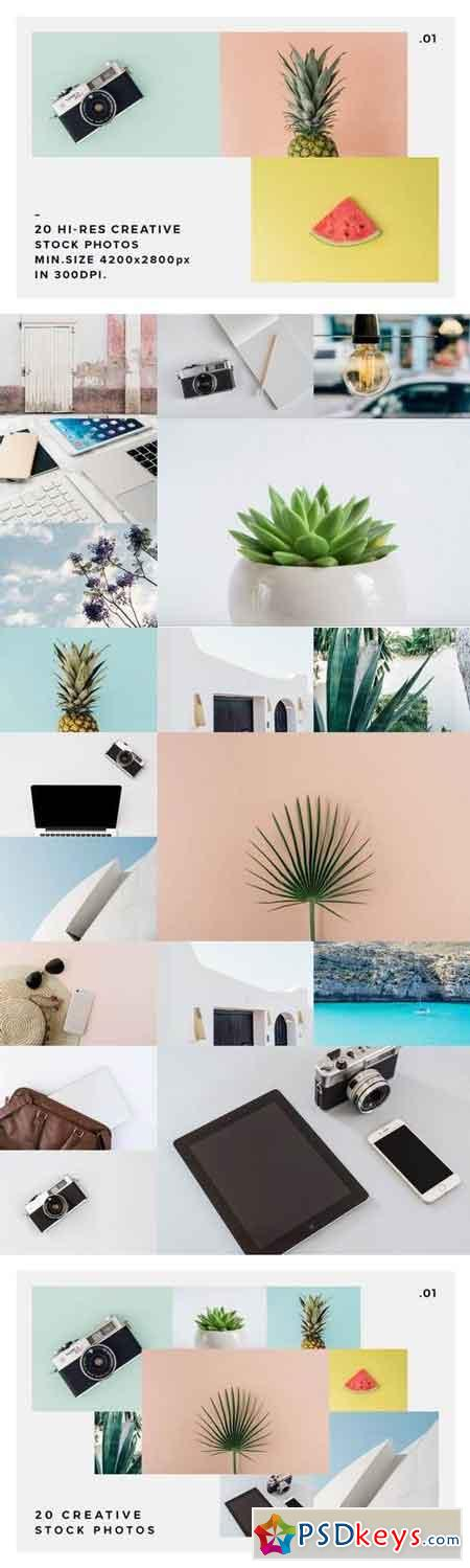 20 Stock Photos Creative Pack vol.1