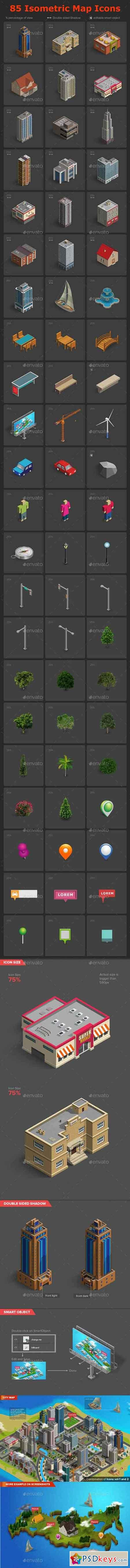 Isometric Map Icons Vol.02 17979944