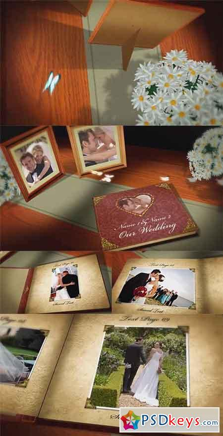 Vintage Wedding Book - After Effects Projects