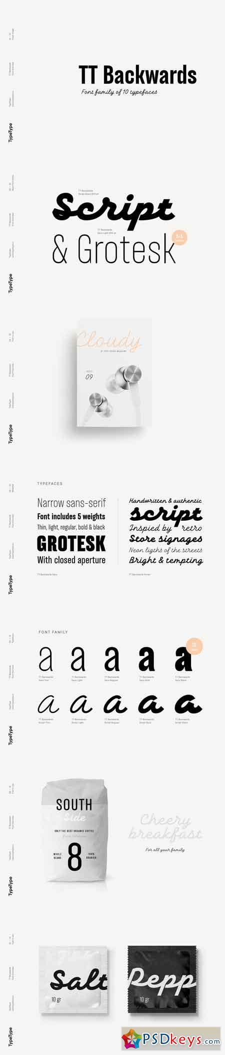 TT Backwards Font Family - 10 Fonts