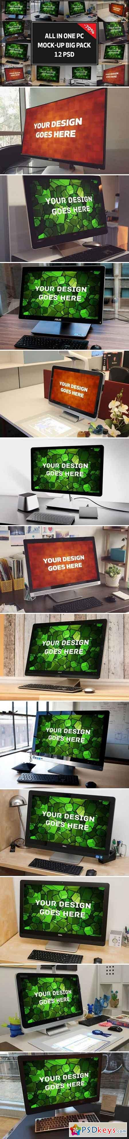 All In One PC Mock-up Bigpack#1 1349816