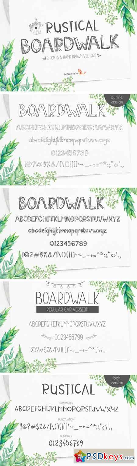 Rustical Boardwalk 1829876