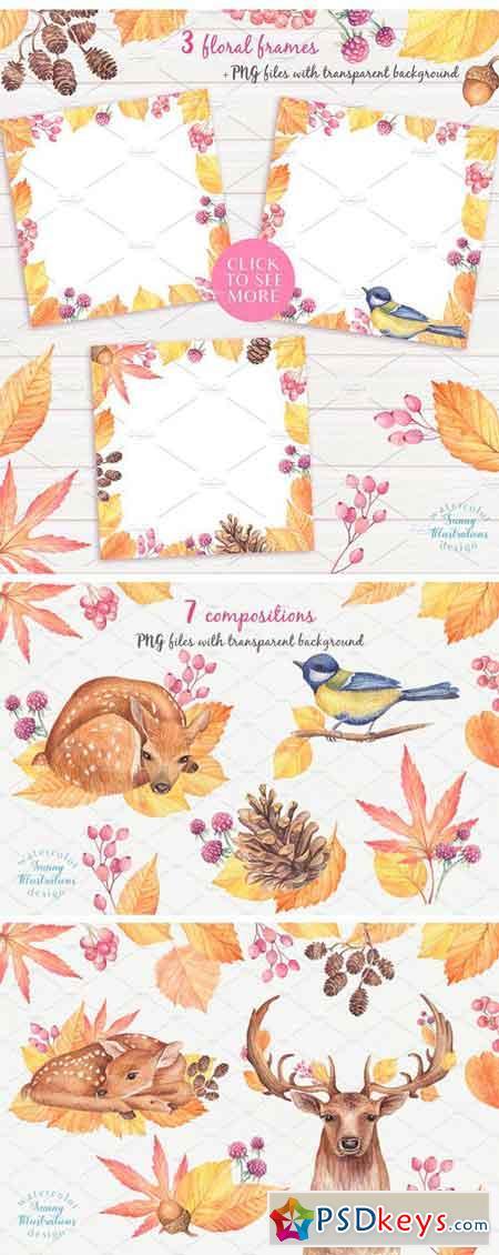 Happy Autumn-Watercolor Set 1779378