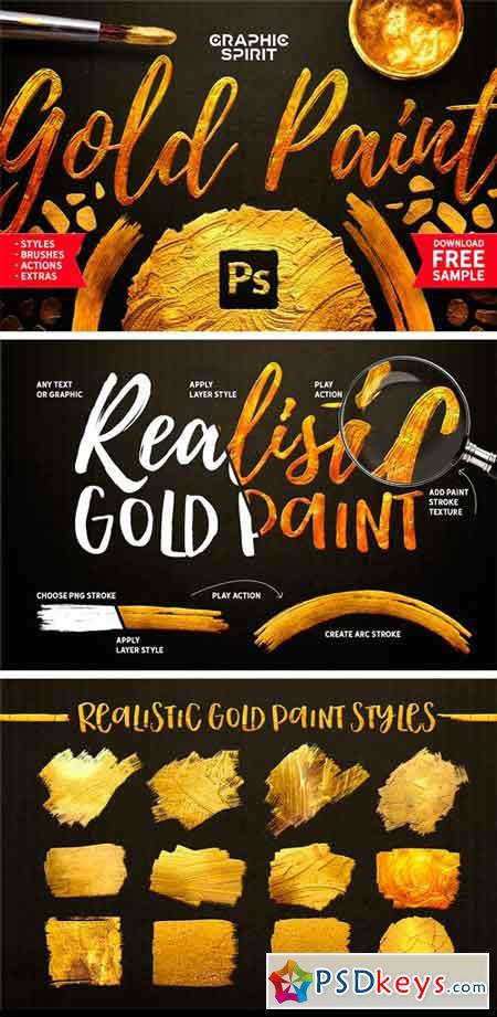 TOOLKIT Gold Paint Effect Photoshop 1676277