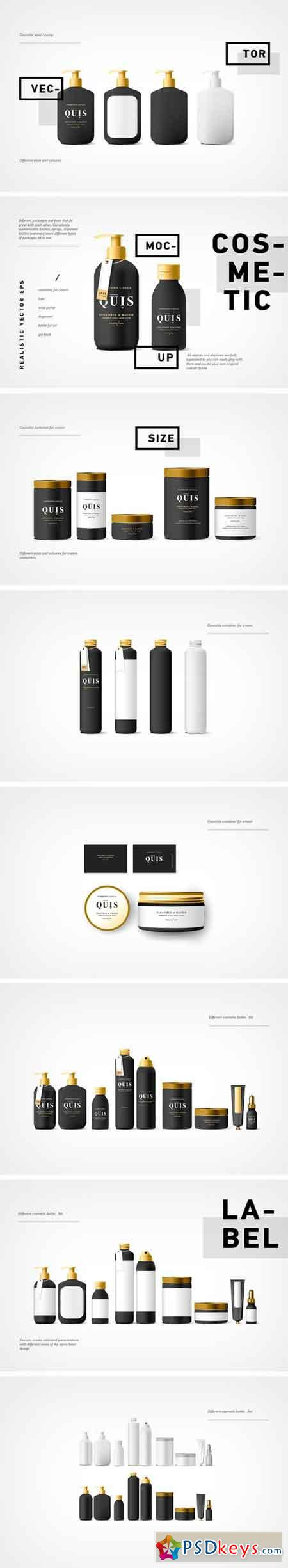 Cosmetic Vector Mockup Black Bottle 1818043 » Free Download