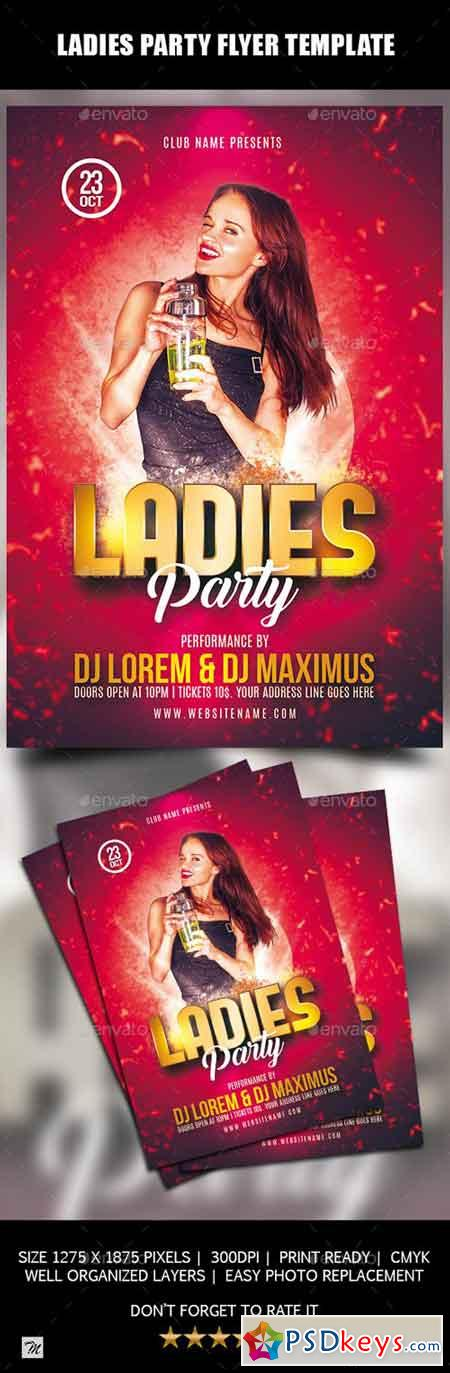 Ladies Party Flyer Template 20664844