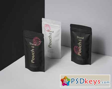 Psd Stand Up Pouch Mockup Vol 2