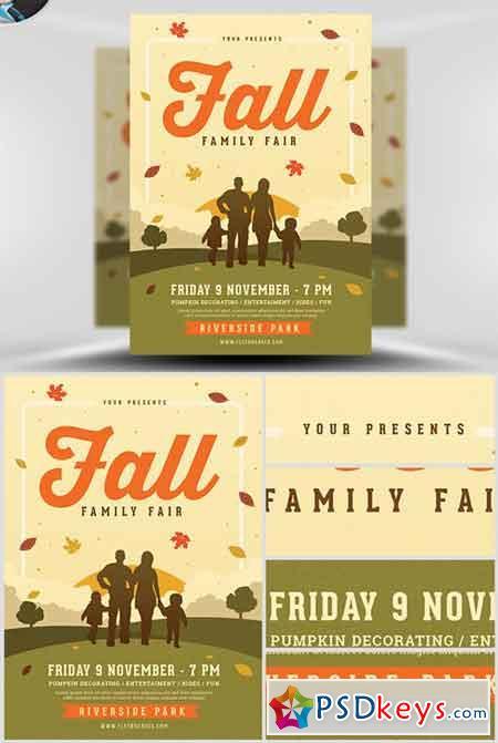 Family Fall Fair Flyer Template