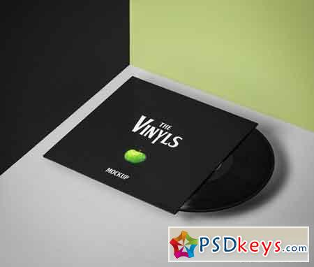 Psd Vinyl Cover Record Mockup Vol3