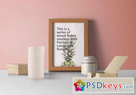 Psd Wood Frame Mockup Vol7