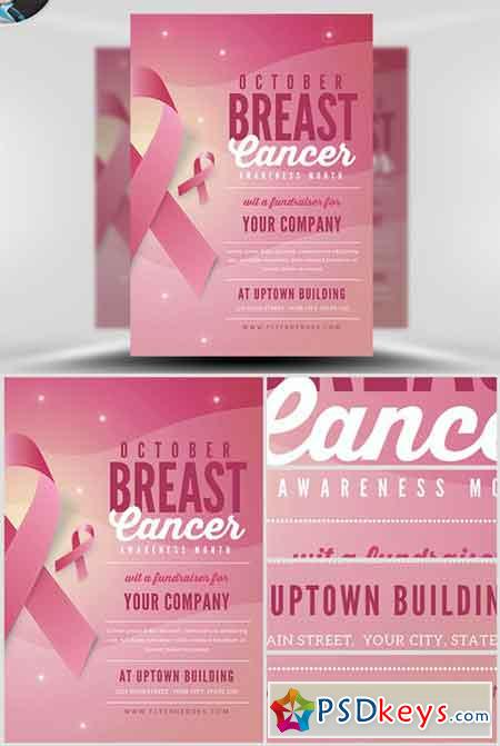 Breast Cancer Awareness Month Flyer Template v2