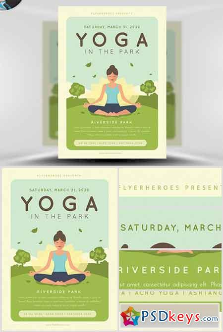 Yoga in the Park Flyer Template