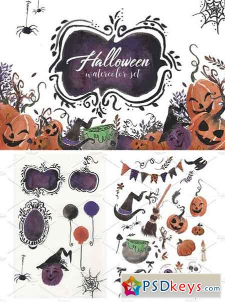 Halloween Watercolor set 1871139