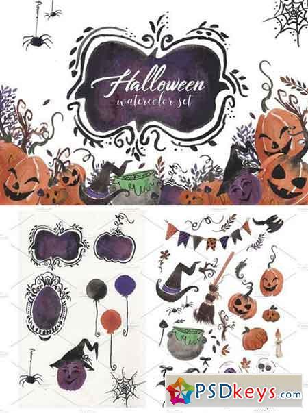 halloween watercolor set 1871139 - Halloween 2 2017 Torrent
