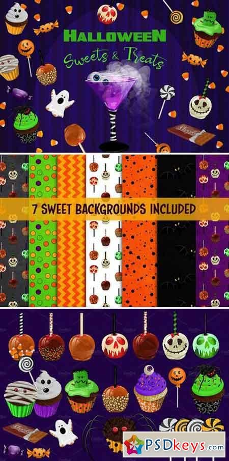Halloween Sweets & Treats Clipart 1835715