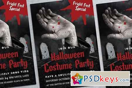 Halloween Party Poster Mockup 1834407