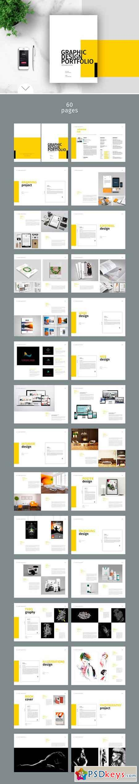 Graphic Design Portfolio Template 1830802