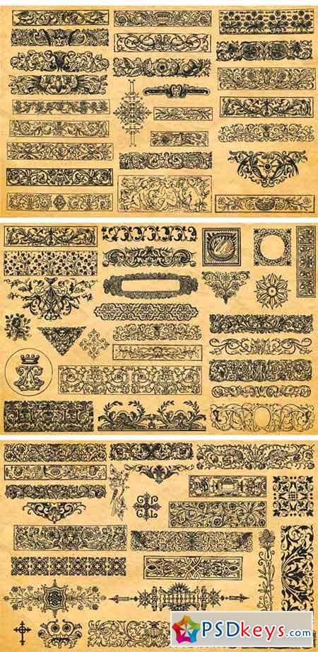 150 Vintage Vector Ornament Vol. 1 1818506
