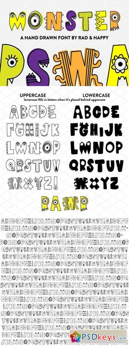 Monster Hand Drawn Font 1819882