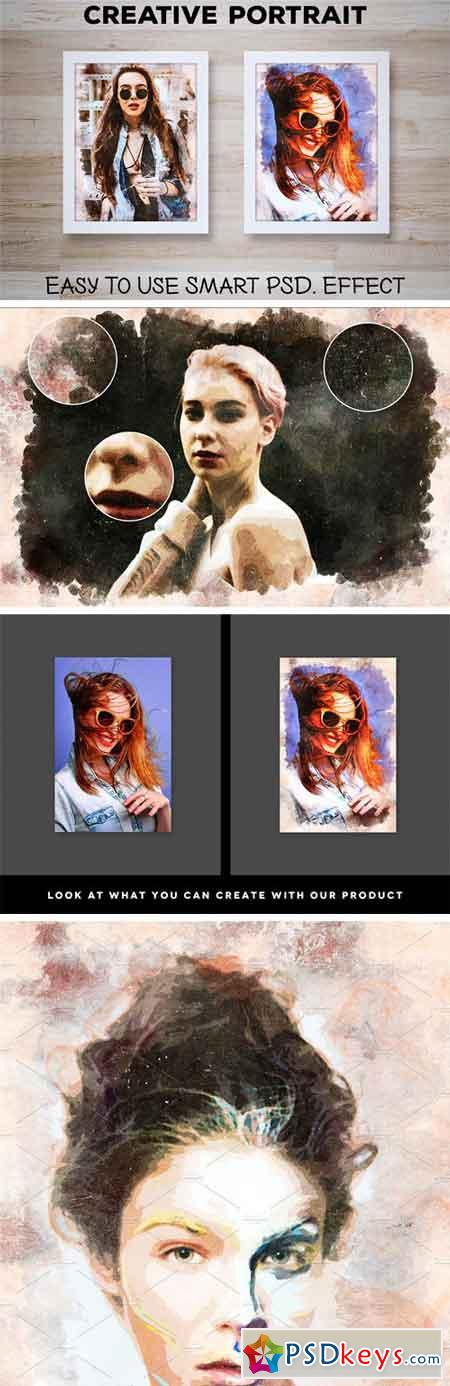Creative Portrait Smart PSD Effect 1829541