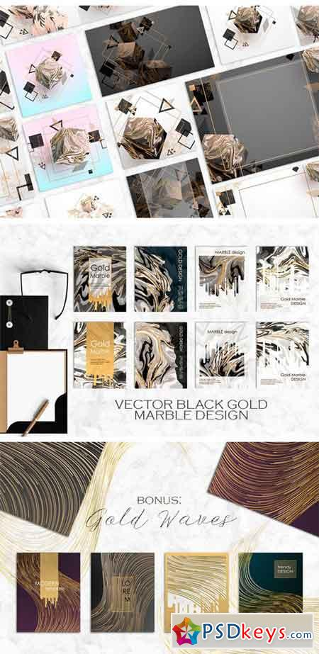 Gold & MARBLE - Creative Cards 1827331