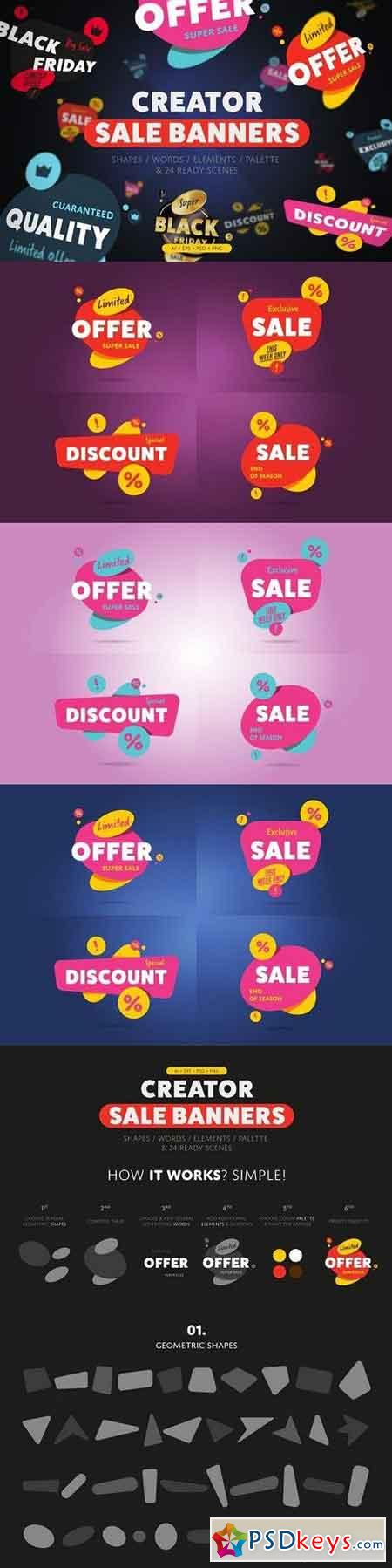 Sale banner and Discount tag kit 1317538