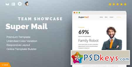 Responsive Email + Online Template Builder - SuperMail Team Showcase 15714077
