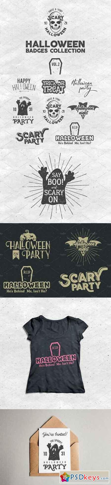 Halloween Badges Set. Vol.2 918373