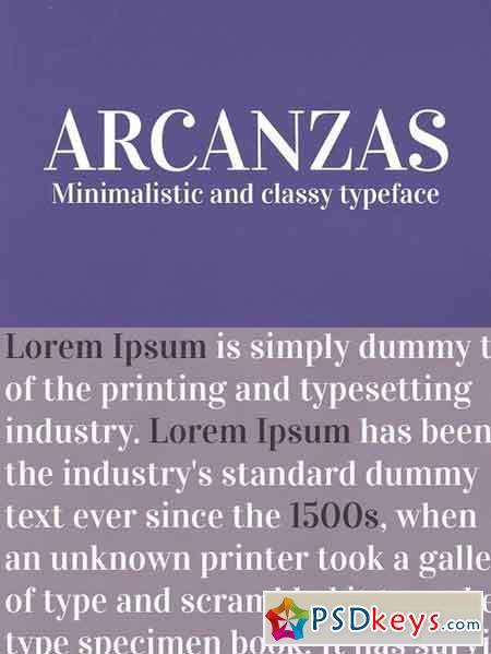 Arcanzas Typeface 1229207